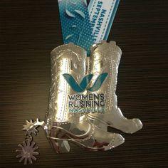 Half Marathon Finishers Medal for 2014 Women's Running Nashville Sept 27th!  Gotta have it!!!