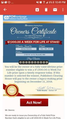 pch lotto i rrojas claim Lotto Winning Numbers, Lotto Numbers, Lottery Winner, Winning The Lottery, Promotion Card, Investing Apps, Instant Win Sweepstakes, Win For Life, Congratulations To You
