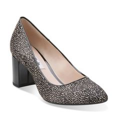 Blissful Cloud Black/White Cow Hair - Clarks Womens Shoes - Womens Heels and Flats - Clarks - Clarks
