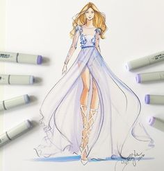 Just added a bunch of couture sketches to the shop at hnillustration.etsy.com…