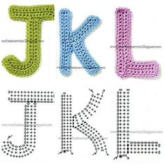 Crochetpedia: Crochet Letters and Numbers for appliqueing and decor Crochet Diagram, Crochet Chart, Crochet Motif, Crochet Flowers, Crochet Stitches, Free Crochet, Alphabet Au Crochet, Crochet Letters Pattern, Crochet Patterns