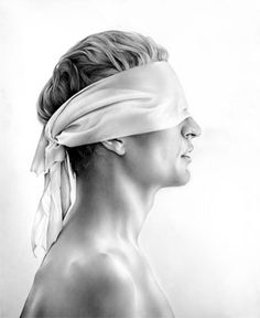Cath Riley - for sale - original drawings:  blindfold