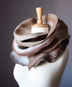 Felted wool scarf natural shaedes by VitalTemptation , Etsy, via Flickr