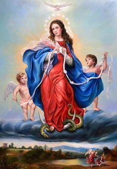 virgin Mary: Undoer of Knots Blessed Mother Mary, Blessed Virgin Mary, Santa Maria, Catholic Pictures, Queen Of Heaven, Mama Mary, Mary And Jesus, Holy Mary, Art Thou