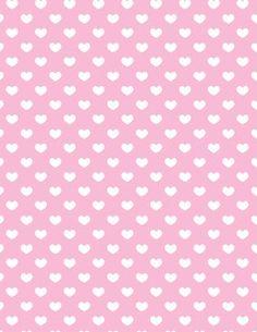 Fundo de corações brancos e fundo rosa - Minus