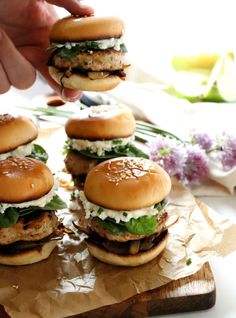 Apple Goat Cheese Turkey Sliders