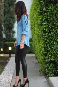 Cool 35 Spring Outfits Chic for Denim Shirts http://clothme.net/2018/04/26/35-spring-outfits-chic-for-denim-shirts/