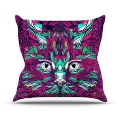 Kess InHouse Danny Ivan  If you are crazy for cats then consider using trendy, fun and cool cat themed home decor.  Cat home decor is cute, adorable and charming.  You can use cat accent pillows along with cat wall clock to create a cat themed living room or bedroom.  For the kitchen consider using a nice combo of cat drinking glasses and cat kitchen decor to create a perfect cat oasis. Don't forget to finish off your  cat home decor with a cuddly cat throw blanket or a couple pieces of cat…