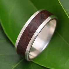 White Gold Lados Nacascolo Wood Ring by naturalezanica on Etsy