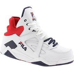 Fila Mens The Cage Basketball Shoe High Top Basketball Shoes, Adidas Basketball Shoes, Hip Hop Outfits, Sport Outfits, Best Sneakers, White Sneakers, Basketball Tricks, Basketball Hoop, Hot Shoes