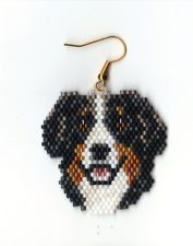 Dog Beaded Earings