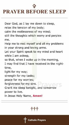 Prayer before sleep Prayer Scriptures, Bible Prayers, Faith Prayer, God Prayer, Prayer Quotes, Spiritual Quotes, Bible Verses, Catholic Prayers Daily, Prayer For Forgiveness