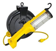 26watt Fluorescent Retractable Work Light w/ Outlet, Magnet and Overload Protection ** More info could be found at the image url.