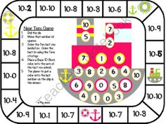 Touch Math Subtraction Gameboards from Mrs Davidson's Resources on TeachersNotebook.com -  (22 pages)  - This PDF contains 22 fun addition game boards. All of the addition facts have touch points for students to use. Students will have fun playing these games while practicing N-1 to 20-N facts.  Graphics are from -Dollar Graphics Depot -From the Pond -KPM Do Mental Math Strategies, Subtraction Strategies, Math Subtraction, Touch Point Math, Touch Math, Math Addition, Addition And Subtraction, Addition Facts, Math Lesson Plans