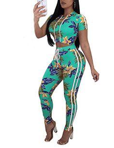 XTX Women Hollow Out 2 PCS Solid Long Sleeve Crop Top T-Shirt /& Jogging Pants Club Party Jumpsuit Romper