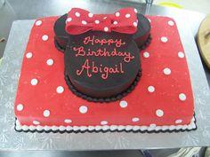 Minnie Mouse themed slab cake