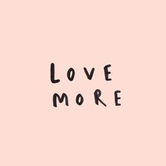love more hand lettered