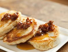 Crumpets topped with bacon marmalade...Sunshine Co., NYC