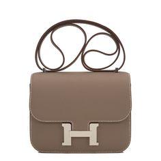 1e8d3c0d0966 Hermes Mini Constance Bag 18cm Etoupe Epsom Palladium Hardware