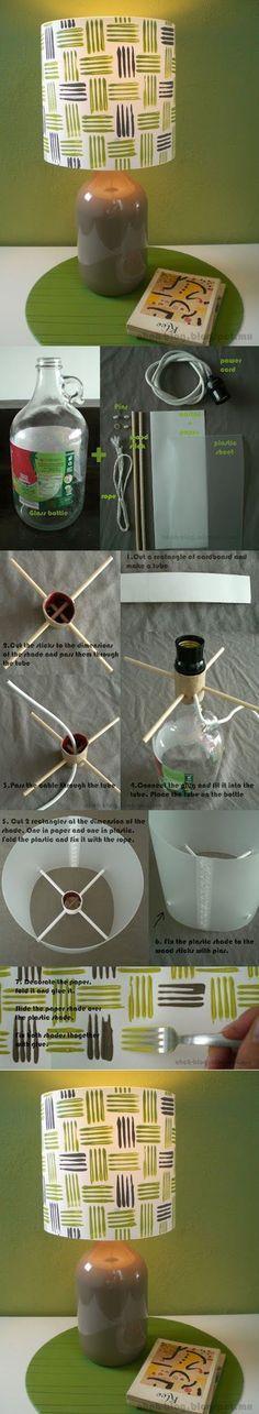 Cool Lamp | DIY & Crafts Tutorials; EL PLÁSTICO CON UN BOTELLÓN DE AGUA MINERAL PLASTICO