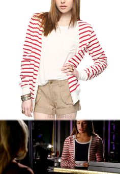 Forever 21 Striped French Terry Cardigan - $17.80  Worn with: Forever 21 dress, 'R' necklace