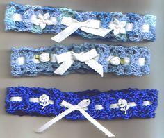Something Blue Bridal Garter - Free crochet pattern by D Goldoff YarnDesignsByDavira