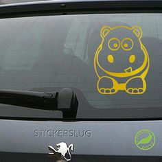Cartoon Hippo Decal