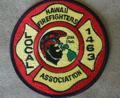 Hawaii fire department patch Hawaii Fire, Fire Fighters, Thing 1, Fire Department, Badges, Ems, Cape, Decals, Patches