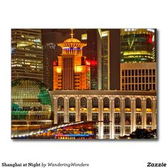 Shanghai at Night Postcard