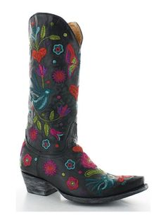 Rivertrail Mercantile - Old Gringo Pajaro Black L2476-3, $549.00… Cowgirl Fashion, Cowgirl Style, Cowgirl Boots, Heeled Boots, Shoe Boots, Old Gringo Boots, Fashion Marketing, Fashion Belts, Rubber Rain Boots