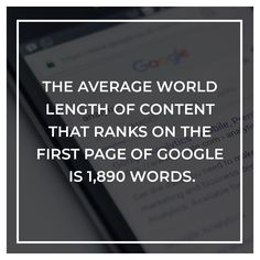 Don't neglect to have in-depth content on your pages in order to rank higher. Having little to no content makes it really hard to rank for your focused keywords. Content Marketing, Internet Marketing, Website Design Services, First Page, Seo, Competition, Google, Instagram Posts, Online Marketing