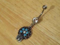 Dream Catcher Belly Button Ring - Belly Button Ring via Etsy