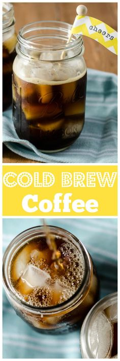 Cold Brew Coffee - Perfect for warm weather, and easy to make! Smooth and refreshing, cold brew coffee is a pick-me-up with less bitterness than a traditional brew. Tea Recipes, Coffee Recipes, Brunch Recipes, Smoothie Recipes, Breakfast Recipes, Drink Recipes, Smoothies, Best Cold Brew Coffee, Cappuccino Recipe
