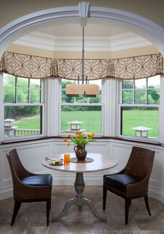 Kitchen Bay Window Treatments Elegant I Love the Simple Design Of these Bay Valances Mostly Flat Valance Window Treatments, Kitchen Window Treatments, Custom Window Treatments, Window Coverings, Cornices, Kitchen Window Blinds, Kitchen Valances, Kitchen Windows, Interior Design Services