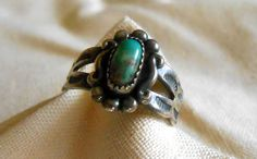 VINTAGE Silver and Turquoise Ring by ARMOIREdeKARMA on Etsy, $49.00