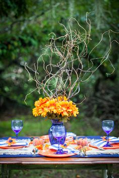 A Modern Autumn Tablescape Photo Credit: Halley's Photography