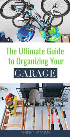 Wishing that you could actually park your cars inside the garage? With this collection of garage organization tips ideas and products you'll be able to declutter and organize that garage and make your wish come true! Garage Workshop Organization, Home Office Organization, Paper Organization, Organizing Your Home, Organizing Tips, Home Management Binder, Time Management, Diy Storage, Storage Ideas