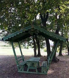 Ahşap Çardak - Çatılı Piknik Masası Resmi