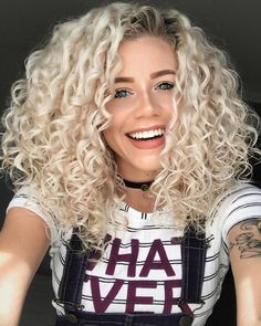 Medium Bob Synthetic Hair Kinky Curly Wig 16 Inches Sure, the bushy perms of the might be out of Curly Hair Styles, Curly Hair With Bangs, Medium Hair Styles, Natural Hair Styles, Blonde Curly Hair Natural, Naturally Curly Hair, Natural Wigs, Permed Hairstyles, Hairstyles With Bangs