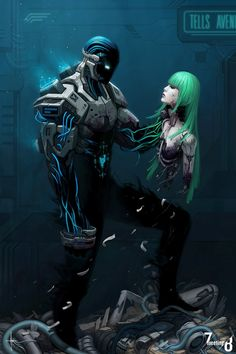 Feel Reality Melt Away With The Amazing Art of Adrian Dadich — Today In Awesome Arte Cyberpunk, Cyberpunk 2077, Character Concept, Character Art, Concept Art, Character Design, Nail Bat, Science Fiction Kunst, Space Opera