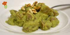 Gnocchi con pesto di broccoli (ricetta senza patate)