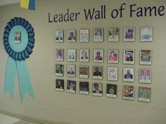 When a community leader visits your school, take their picture and frame it on the wall.