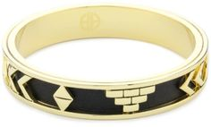 House of Harlow 1960 14k Yellow-Gold-Plated Aztec Bangle $80.00