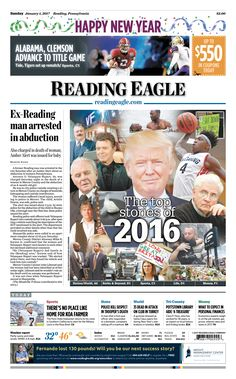 Today's front page. January 1, 2017