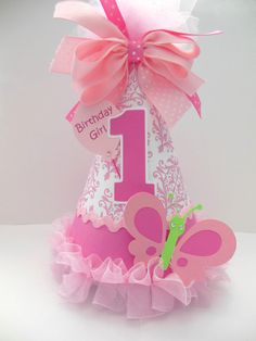 Pink Damask  Butterfly  Cupcake Birthday by SandysSpecialtyShop, $21.50