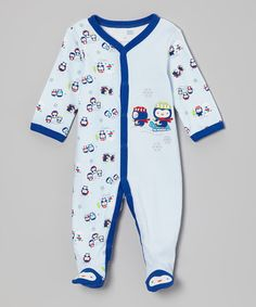 Love this Blue Penguin Footie - Infant on #zulily! #zulilyfinds