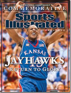 buy The 2008 College Basketball Championship, Mario Chalmers of The Jayhawks Sports Illustrated cover reprints Kansas Jayhawks Basketball, Kansas Basketball, I Love Basketball, Ku Bball, University Of Kansas, Kansas City, Ku Sports, Mario Chalmers, Sports Illustrated Covers