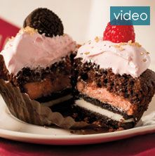 Raspberry Chocolate Layered Cupcakes video