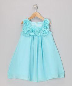 Aqua Rosette Dress - Infant, Toddler & Girls
