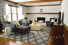 How To Whitewash A Brick Wall Or Fireplace | Young House Love This came out soooo nice. I love it!!!